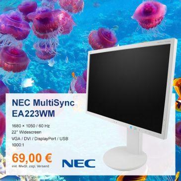 Top-Angebot: NEC MultiSync EA223WM nur 69 €
