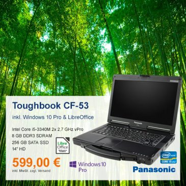 Top-Angebot: Panasonic Toughbook CF-53 nur 599 €