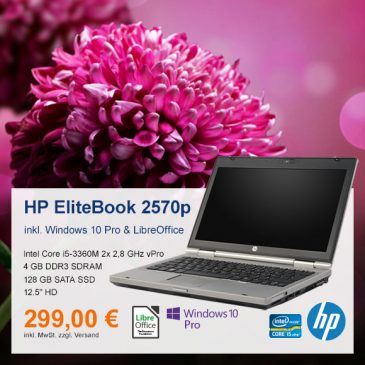 Top-Angebot: HP EliteBook 2570p nur 299 €