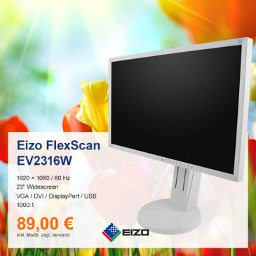 Top-Angebot: Eizo Flexscan EV2316W nur 89 €