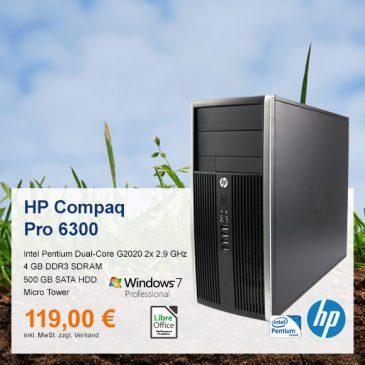Top-Angebot: HP Compaq Pro 6300 MT nur 119 €