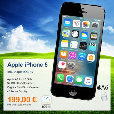 Top-Angebot: Apple iPhone 5 nur 199 €