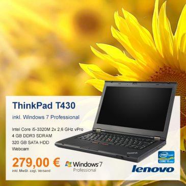 Top-Angebot: Lenovo ThinkPad T430 nur 279 €