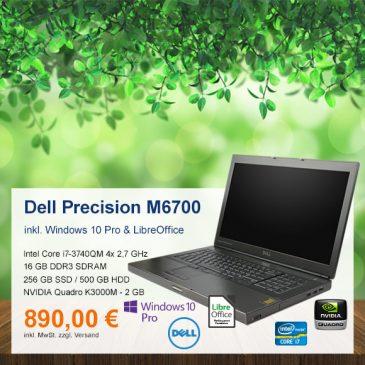 Top-Angebot: Dell Precision M6700 nur 890 €