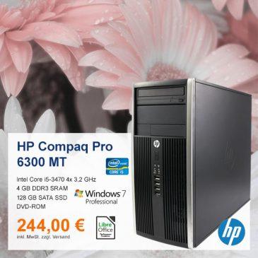 Top-Angebot: HP Compaq Pro 6300 MT  nur 244 €