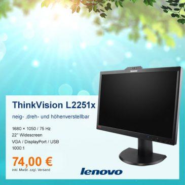 Top-Angebot: Lenovo ThinkVision L2251x nur 74 €