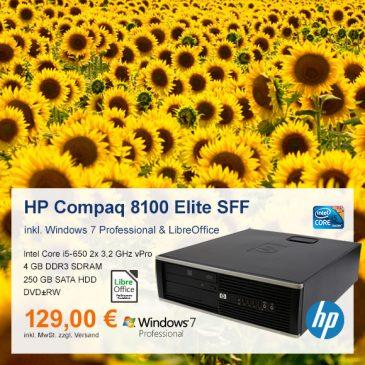 Top-Angebot: HP Compaq 8100 Elite SFF nur 129 €