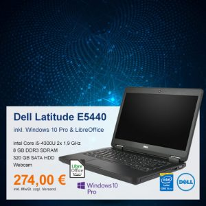 Top-Angebot: Dell Latitude E5440 nur 274 €