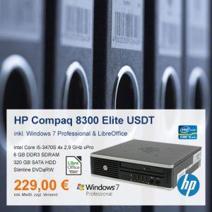 Top-Angebot: HP Compaq 8300 Elite USDT nur 229 €