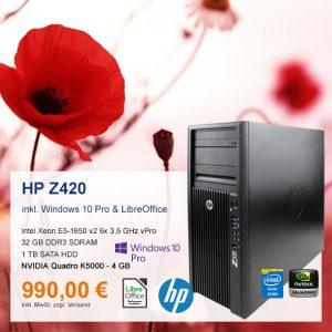 Top-Angebot: HP Z420 nur 990 €