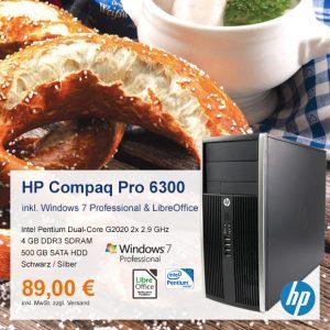 Top-Angebot: HP Compaq Pro 6300 MT nur 89 €
