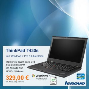 Top-Angebot: Lenovo ThinkPad T430s nur 329 €