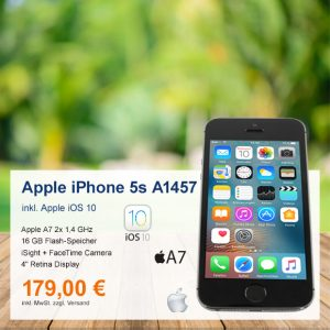 Top-Angebot: Apple iPhone 5s A1457 nur 179 €