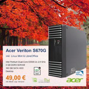Top-Angebot: Acer Veriton S670G nur 49 €