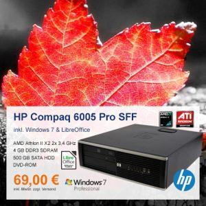 Top-Angebot: HP Compaq 6005 Pro SFF nur 69 €