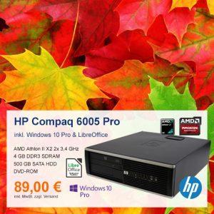 Top-Angebot: HP Compaq 6005 Pro SFF nur 89 €
