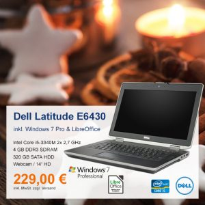 Top-Angebot: Dell Latitude E6430 nur 229 €