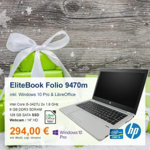 Top-Angebot: HP EliteBook Folio 9470m nur 294 €