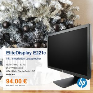 Top-Angebot: HP EliteDisplay E221c nur 94 €