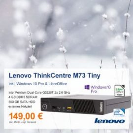 Top-Angebot: Lenovo ThinkCentre M73 Tiny nur 149 €