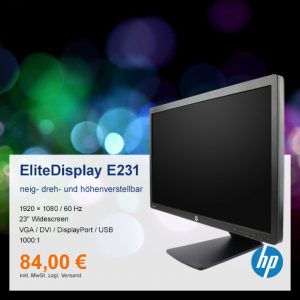 Top-Angebot: HP EliteDisplay E231 nur 84 €