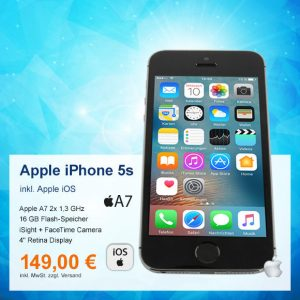 Top-Angebot: Apple iPhone 5s A1457 nur 149 €