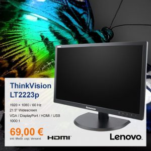 Top-Angebot: Lenovo ThinkVision LT2223p nur 69 €