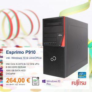 Top-Angebot: Fujitsu Esprimo P910 nur 264 €