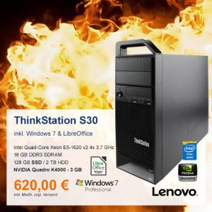 Top-Angebot: Lenovo ThinkStation S30 nur 620 €
