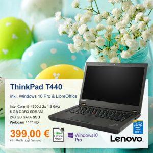 Top-Angebot: Lenovo ThinkPad T440 nur 399 €