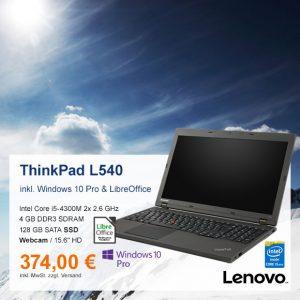 Top-Angebot: Lenovo ThinkPad L540 nur 374 €