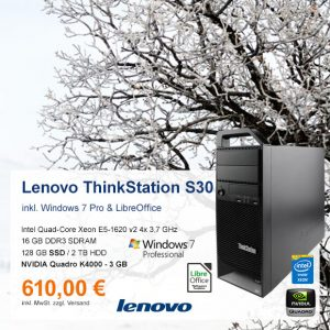 Top-Angebot: Lenovo ThinkStation S30 nur 610 €