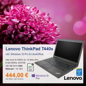 Top-Angebot: Lenovo ThinkPad T440s nur 444 €