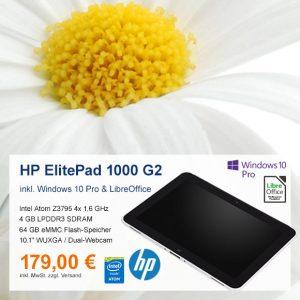 Top-Angebot: HP ElitePad 1000 G2 nur 179 €