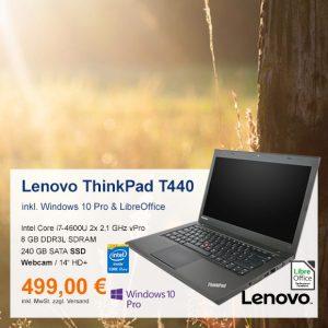 Top-Angebot: Lenovo ThinkPad T440 nur 499 €