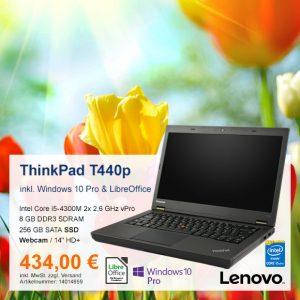 Top-Angebot: Lenovo ThinkPad T440p nur 434 €