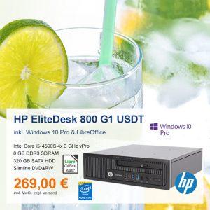 Top-Angebot: HP EliteDesk 800 G1 USDT nur 269 €
