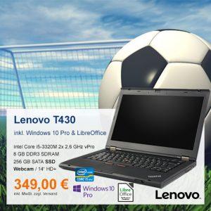 Top-Angebot: Lenovo ThinkPad T430 nur 349 €