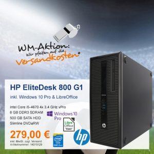 Top-Angebot: HP EliteDesk 800 G1 nur 279 €