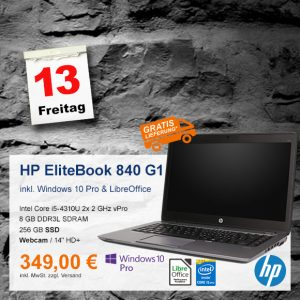 Top-Angebot: HP EliteBook 840 G1 nur 349 €