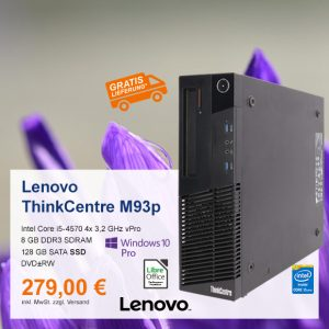 Top-Angebot: Lenovo ThinkCentre M93p nur 279 €