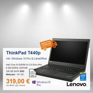 Top-Angebot: Lenovo ThinkPad T440p nur 319 €