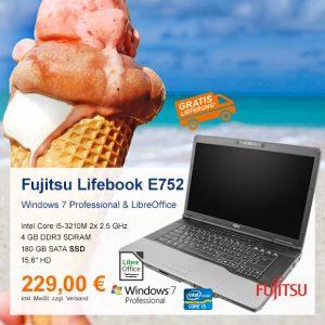 Top-Angebot: Fujitsu Lifebook E752 nur 229 €