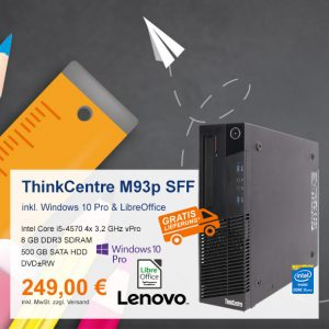 Top-Angebot: Lenovo ThinkCentre M93p nur 249 €