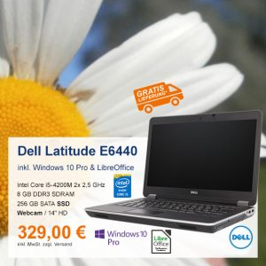Top-Angebot: Dell Latitude E6440 nur 329 €