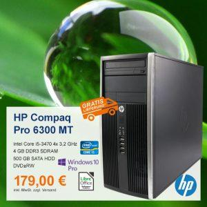Top-Angebot: HP Compaq Pro 6300 MT nur 179 €
