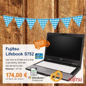 Top-Angebot: Fujitsu Lifebook S752 nur 174 €