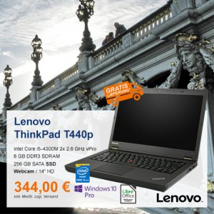Top-Angebot: Lenovo ThinkPad T440p nur 344 €