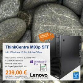 Top-Angebot: Lenovo ThinkCentre M93p nur 239 €