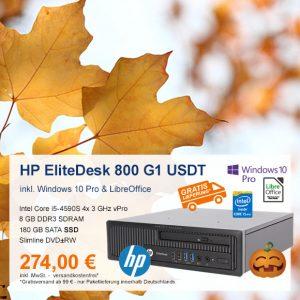 Top-Angebot: HP EliteDesk 800 G1 USDT nur 274 €